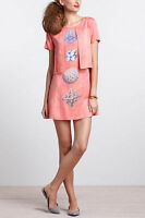 Authentic NEW Anthropologie Abstract Modernist Cartesian Mini Dress 2