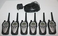 GXT MIDLAND Lot of 6 Two-Way Radio w/Dual Desktop Drop in Charger Base Dock