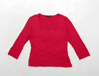 Linea Womens Size M Red Top (Regular)
