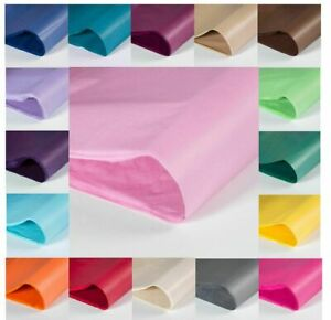 "Coloured Tissue Wrapping Paper 20"" x 30"" 500 x 750mm 14gsm FREE UK DELIVERY"
