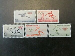 RUANDA-URUNDI, SC#B26-B30, ROME OLYMPICS SET (1960) MINT