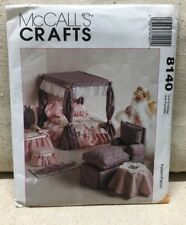 Living Room Bedroom Furniture & Canopy McCalls Pattern 8140 Fits Barbie Doll