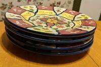 "Set Of 4 Pier 1 One Vallarta Large 9"" Salad Luncheon Dessert Plates"
