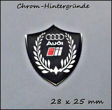 Audi S-line 3D Logo Aufkleber- Abzeichen Set für Handy, Tablet, Laptop Chrome