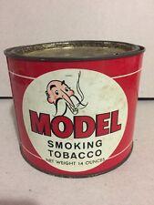 Vintage Model Smoking Tobacco TIn Red White Mustached Man 14 oz