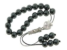 0025 Loose Strung Greek Komboloi Worry Beads 19 x 10mm Hematite Gemstone Beads