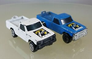 """Summer Diecast S-8635 Pickup Truck """"Promotion Design"""" Pair, White & Blue - China"""