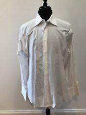$125 IKE BEHAR White Solid 100% Cotton Men's CANADA MADE Dress Shirt Size 16.5!