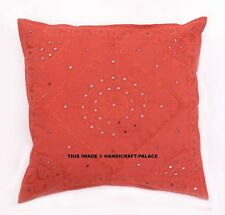 Indian Embroidered Pillow Case Mirror Cushion Covers Sofa Chair Use Decor 60cm