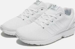 Adidas Originals ZX Flux White Trainers Junior Size 5.5 UK Brand New In Box