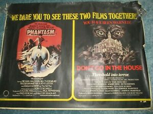 Phantasm & Don't go in the House vintage film poster, 1979?, approx 104 x 78