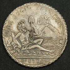 1934, Kingdom of Naples, Charles III of Spain. Silver Piastra (120 Grana) Coin.
