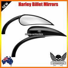 Black rear view Mirrors RAD II mini Teardrop Harley Honda Suzuki Victory vrod