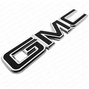 14-19 GMC Sierra Front Grille Letter Logo Emblem Adhesive Nameplate HD OEM Black