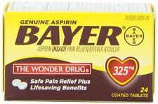 BAYER Genuine Aspirin 325mg - 24 tablets