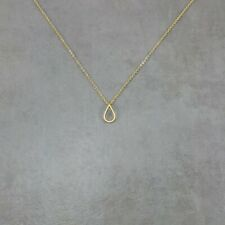 Teardrop GOLD Plated Necklace Pendant Geometric Simple Droplet Tear Modern