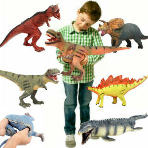 Realistic Large Dinosaur Toys Soft Rubber Foam Stuffed Animals Action Figures