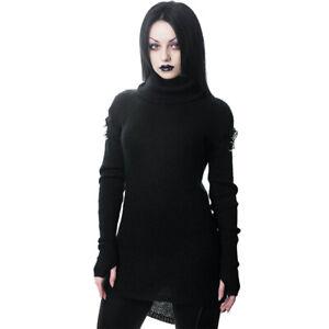 Killstar Gothic Goth Okkult Strickpullover Pullover - Assimilate