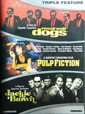 3 Quentin Tarantino Movies Pulp Fiction Reservoir Dogs Jackie Brown 3Disc Sealed