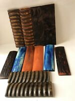 6 Pairs Of Bone Horn Acrylic  Resin Cast Scales Knife Making Knifesmith Supply