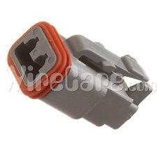 DT06-2S - DT Series- 2 Socket Plug , Gray (Pack of 10)