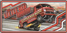 Little Red Wagon Wheelstander License Plate Sign NHRA Dodge A-100 PickUp