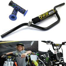 Black 7/8'' 22mm Handle bars + Hand grips 4 MX Pit Bike Atomik Pitpro Thumpstar