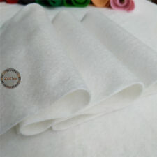 21x90cm Roll per Metre Soft Felt Fabric Non Woven Polyester Craft DIY Material Beige White 21 X 90cm Roll