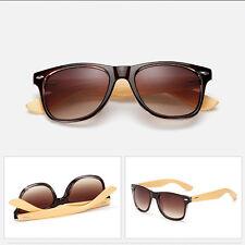 Verano Moderno Bambú Gafas de sol madera Hombre Mujer Retro Vintage Gafas