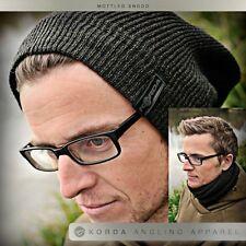 Korda Mottled Black Knitted Snood Neckwarmer Hat Fishing Clothing - KBH06