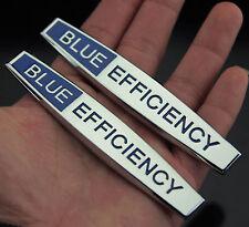 2pcs TOP Metall BLUE EFFICIENCY Auto Schriftzug Aufkleber Emblem für Schutzblech