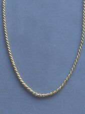 """NEW  20"""" GOLD OVER ITALIAN STERLING SILVER ROPE NECKLACE -035-1.6mm-ITALY 925"""