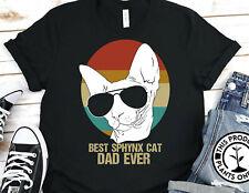 Best Sphynx Cat Dad Ever Vintage Gildan Shirt Graphic Tee Unisex T-Shirt 2906