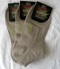 3 Paar RS Harmony Damen Sneaker Bambus Socken beige Größen 35 bis 42
