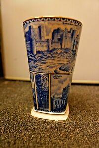 RINGTONS TEA LANDMARKS BLUE AND WHITE 20cm VASE
