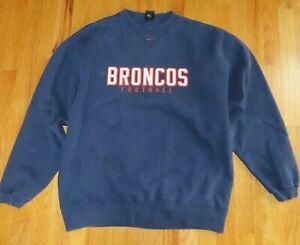 Vintage Nike DENVER BRONCOS Embroidered (LG) Sweatshirt JOHN ELWAY