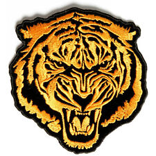 Embroidered Orange Baron Tiger Sew or Iron on Patch Biker Patch