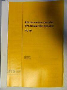 BTS PAL Comb Filter Decoder PC 70  Description Englisch/Deutsch
