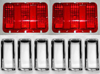 1967 67  Ford Mustang Tail Light Bezel Chrome With Gaskets /& Studs FREE SHIPPING