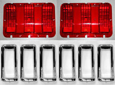 NEW! 1967 Ford Mustang Tail Light Bezel Chrome Full Set of 6 With Lenses Gaskets