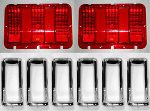 NEW! 1967 Ford Mustang Tail Light Bezel Chrome Full Set of 6 With Lenses Gaskets