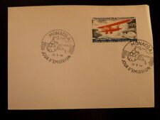 MONACO PREMIER JOUR FDC YVERT  649     AVION BREGUET 19      0,65F     1964