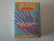 SVENGALI BICYCLE BLUE 809 MANDOLIN BACK DECK OF PLAYING CARDS GAFF MAGIC TRICKS