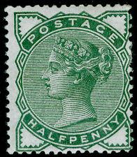 SG164, ½d deep green, M MINT. Cat £55.