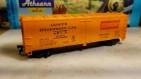 HO Mantua Tyco Armour reefer boxcar advertising 40' train very good