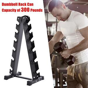6 Tier Heavy Duty Dumbbell Weight Stand Gym Dumbbell Storage A-Frame Rack USA