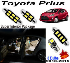 8 Bulbs Super Bright White LED SMD For Toyota Prius 2010~2015 Interior Light Kit