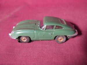 Aurora Thunderjet Slot Car - Jaguar In Olive Green