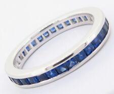 .Platinum & Ceylon Sapphires Full Circle Dress Ring Size K Val $3690