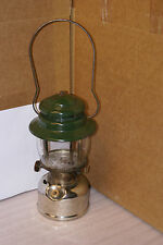 Vintage 1959 Coleman 236 Lantern Nickel Chrome Base Green Top